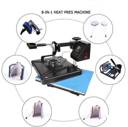 "8IN1 15""X12"" DIGITAL HEAT PRESS MACHINE TRANSFER image 1"