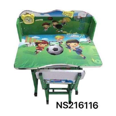 Kids Study Table And Chair Set With Amazing Print image 1