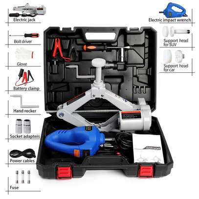7 tonnes Electric Car Jack Kit with Wrench image 4