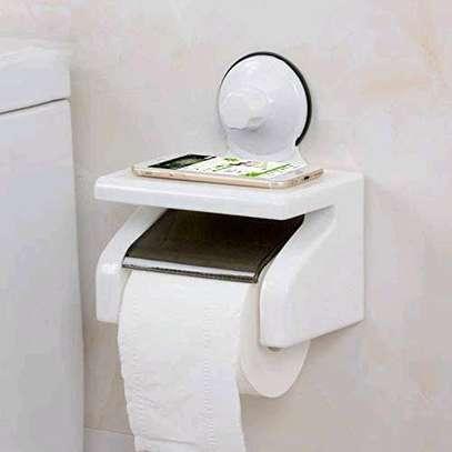 Tissue holder with phone shelf image 1
