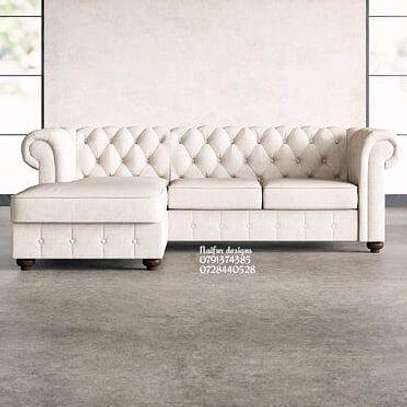 Chesterfield L shaped sofa/five seater sofas image 1