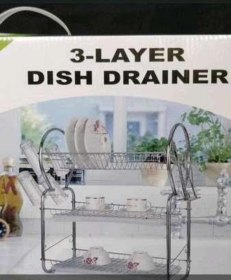 3layer dish rack drainer image 1