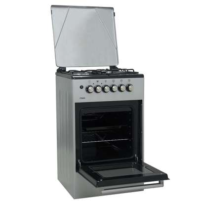 Mika Standing Cooker, 50cm X 50cm, 3 + 1, Electric Oven, Silver - Free Regulator, Pipe and Delivery image 2