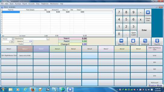 Retail Man POS 2.1.12 software image 2