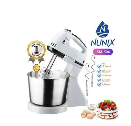 Nunix Hand Mixer + Stand With Bowl image 1