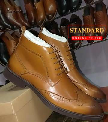 PURE ITALIAN LEATHER SHOES WITH RUBBER SOLE image 15