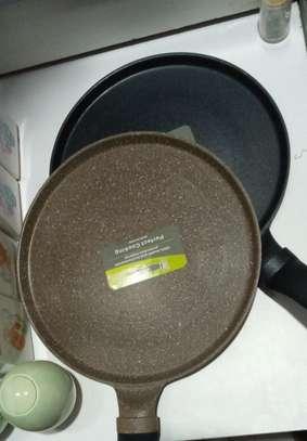 Non-stick heavy granite chapati pan 28cm image 1