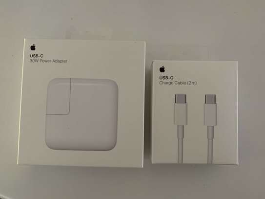Apple 30W USB-C Power Adapter Charger (A1882) and Cable (2M) (A1739) image 1