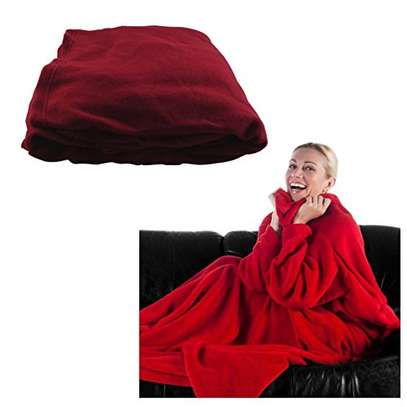 Fleece blanket with sleeves, keep away the cold as you watch netflix image 3