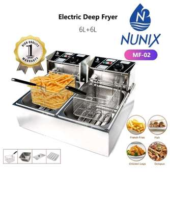 Electric Double Deep Frier 6L+6L image 1