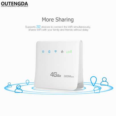 Unlocked 300mbps Wifi Router 4g Wifi Mobile LTE CPE Routers With LAN image 2