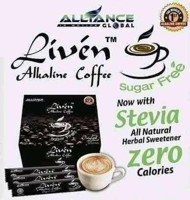 Liven alkaline coffee(cappuccino, original, latte and sugar free flavors all available) image 2