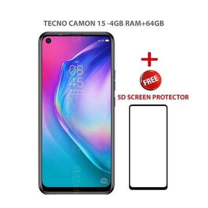 """Tecno Camon 15, 6.6"""",4GB+64GB,48MP Camera,(Dual SIM) -Purple+FREE 5D SCREEN PROTECTOR. image 1"""