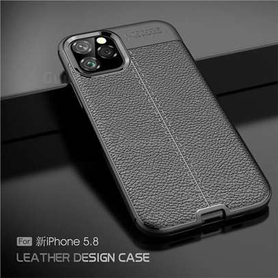 Auto Focus Leather Pattern Soft  Back Case Cover for Apple iPhone 11/11 Pro/11 Pro Max image 3
