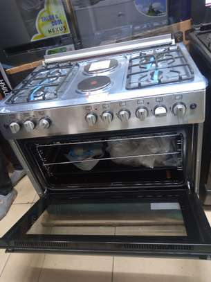 Master chef 90*60 6 burners 4 gas 2hot plates  Electric Oven wide oven image 1