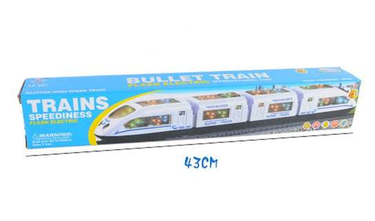 Speed White Electric Train Lights Children/Kids Play Toy image 4