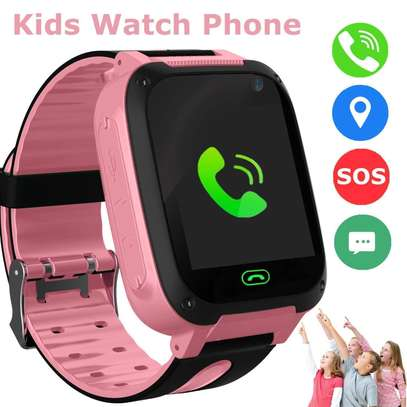 Kids Waterproof Smartwatch with GPS/LBS Tracker - Boys & Girls IP67 Waterproof Smart Watch Phone with SOS Camera Anti-Lost Games for Back to School Sports Watches Student Gifts(Pink)