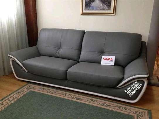Modern grey three seater sofa/classic sofas image 1