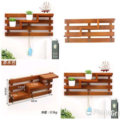 Wall Decor and Organizer... Wooden image 1