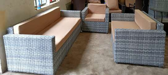 3-seater rattan sofa set image 2