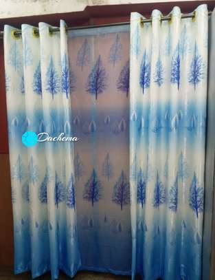 decorated blue curtains image 1