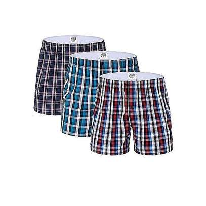 3 in 1  quality men's checked boxers short packs image 2
