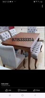 Stylish Modern Quality 6 Seater Dining Table image 1