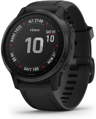 Garmin Fenix 6S Pro, Premium Multisport GPS Watch, Smaller-Sized, features Mapping, Music, Grade-Adjusted Pace Guidance and Pulse Ox Sensors