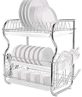 3 tier stainless steel dish rack image 1