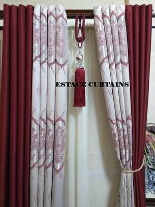 CURTAINS WITH WHITE PRINTED SHEERS image 2