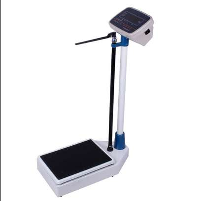 Electronic height and weight scales 150kg image 1