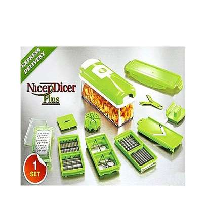 Multi-function Vegetable Chopper,Cutter,Grater,Nicer & Dicer - Multicolored image 2