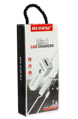 Car Charger 2 in 1 for Iphone & Android. image 1