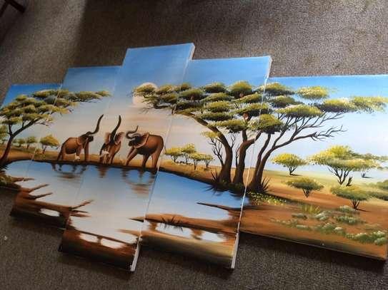 Sungura Art Painting Wall decor Painting On Canvas image 3
