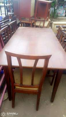 6 SEATER DINNING TABLE MAHOGANY WOOD image 1