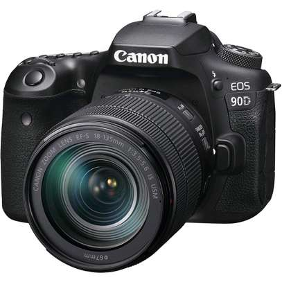 Canon EOS 90D DSLR Camera 32.5MP 3.0 LCD Screen Wi-Fi and Bluetooth Plus Lens 18-135 USM Lens Kit image 1
