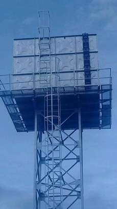 100,000l Steel Water Tank on 16m Water Tower image 2