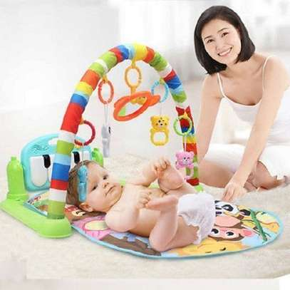 Huanger Baby Gym Play Mat Lay & Play 3in1 Fitness Music & Lights Fun Paino image 1