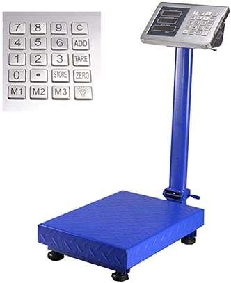 Digital Postal Parcel Scales 150 Kg Heavy Duty Platform Industrial Scale Folding Display Adjustable Background Lighting (Size : 150kg) image 1