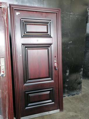 Imported Double and single security steel doors image 4