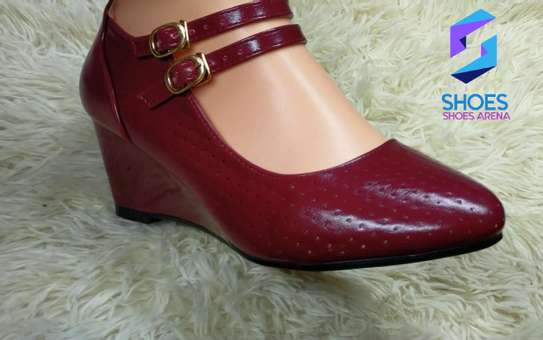 Strap wedge shoes image 6