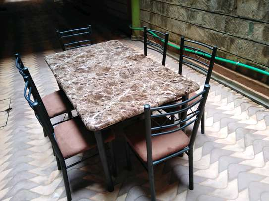 Wooden dining table set image 1
