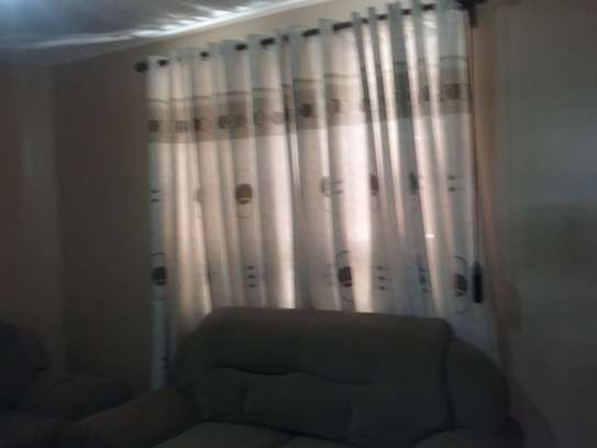 Jungle green and cream colour print curtains 2 pcs 3.5 m each