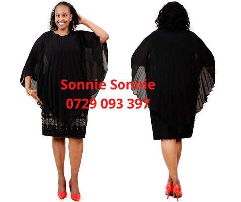 BLACK TURKEY CAPE DRESS image 1