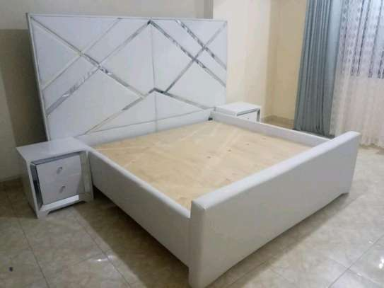 6*6 king size white beds/white mirrored beds for sale in Nairobi Kenya image 2