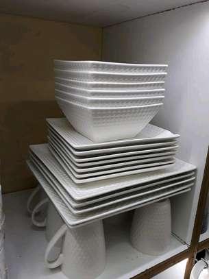 24pc ceramic dinner set/Dinner set/Unique dinner set image 5