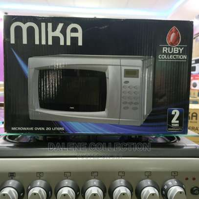 Mika Microwave Oven, 20L, Digital Control Panel, Silver image 2