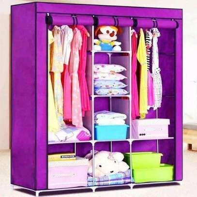 Portable Wooden wardrobe (3 Column)
