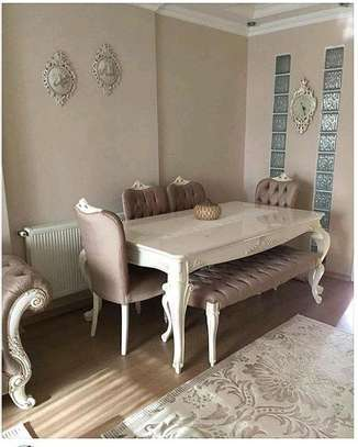 Modern six seater tufted dining tables for sale in Nairobi Kenya/Unique dining tables kenya image 1