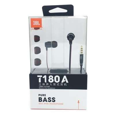 JBL T180A Universal 3.5mm In-ear Stereo Superbass Wired Earphones image 3